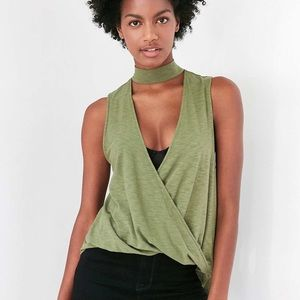 Urban Outfitters Silence + Noise Mock Neck Blouse